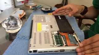 How to Open Laptop Fix Fan Sony Laptop VPCSA