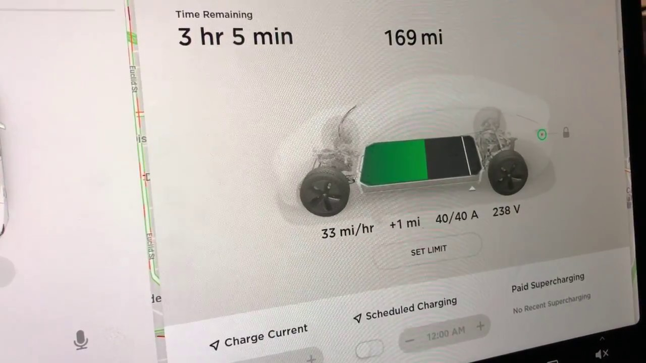 Tesla Model 3 Charging at Home with 40 Amps - YouTube