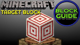 How To Craft And Use Target Block - Minecraft Java Edition