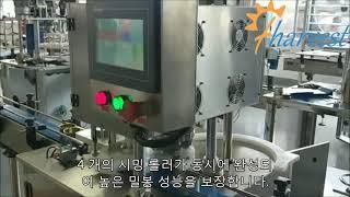 FLV30 금속 캔 씰링 기계,정어리 참치 캔이 시밍되…