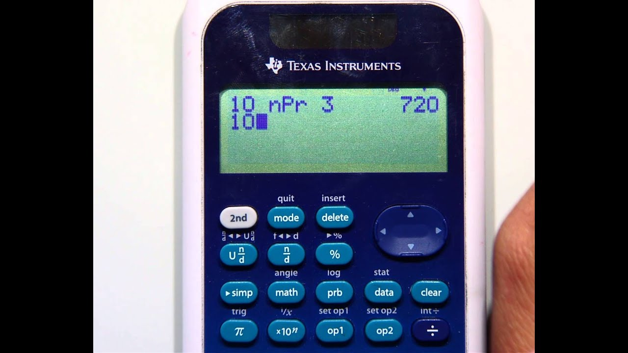 Ti-34 Multiview Find Combinations Permutations
