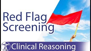 Screening For Red Flags In Physiotherapy