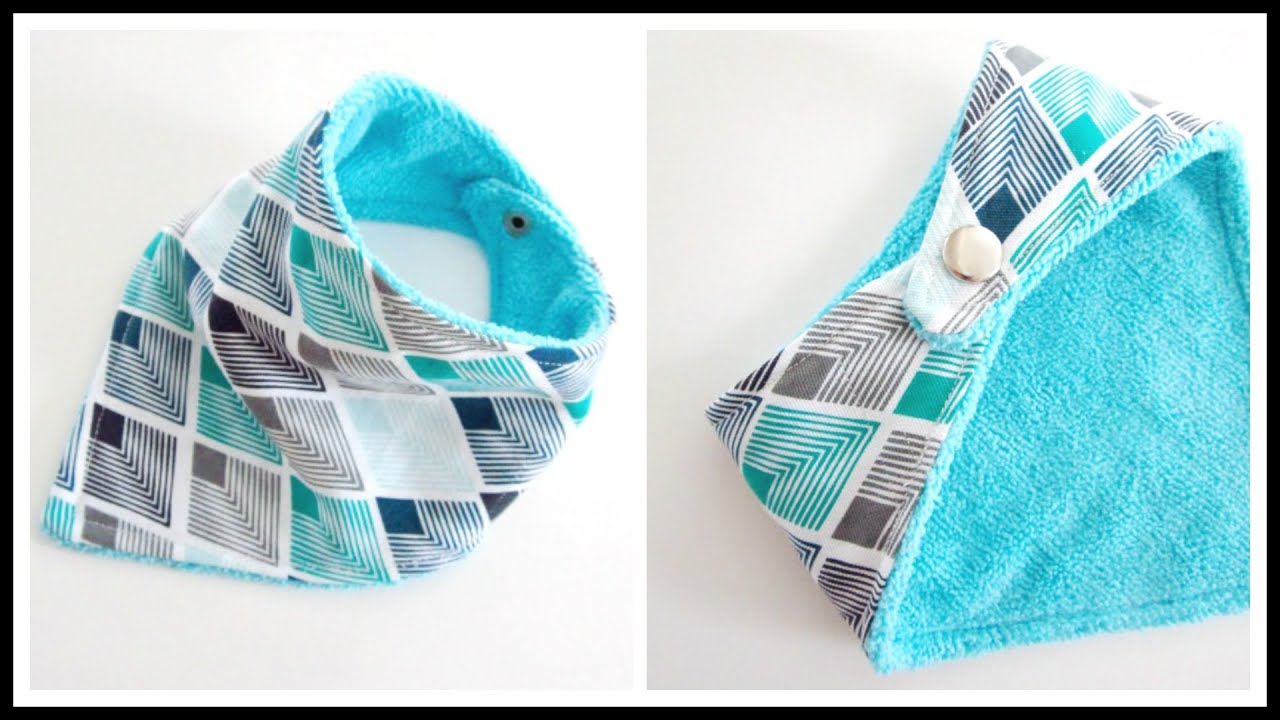 Step-by-Step} Easy Bandana Baby Bib 3m-36m - YouTube