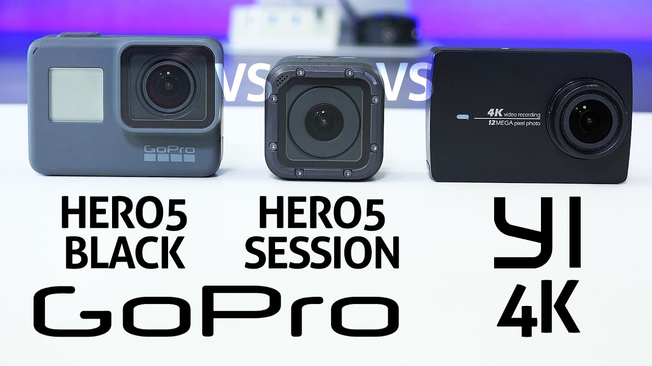 gopro hero 5 black vs session vs yi 4k review youtube. Black Bedroom Furniture Sets. Home Design Ideas