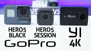 GoPro HERO 5 Black vs Session vs YI 4K - REVIEW
