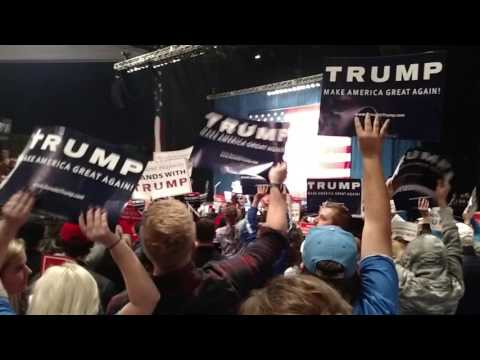 Trump Rally Sterling Heights Michigan 11/6/16 Nugent Trump Kids CNN Sucks