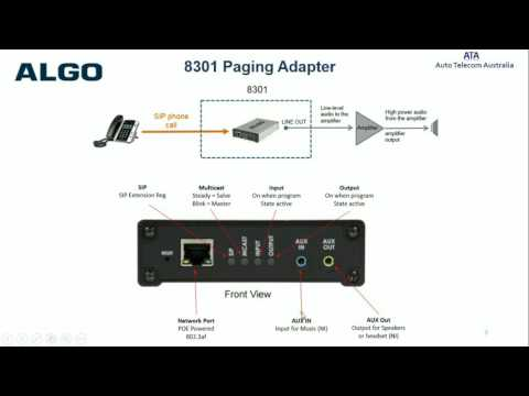 Algo 8301VoIP Paging Interface and Scheduler Sales