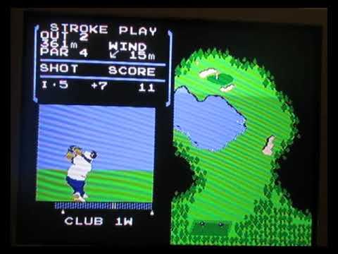 Nintendo NES black box game Golf game review bootleg hardware