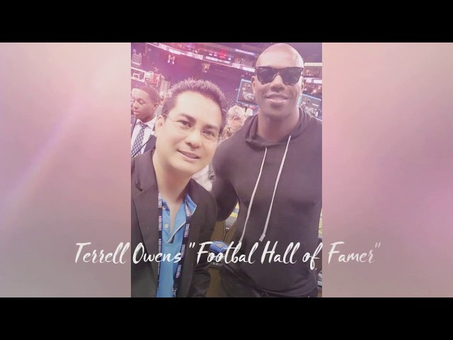 John Melo meets Terrell Owens (Pro Football Hall of Famer)