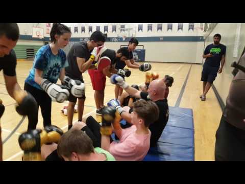 Boxing Practice In Abbotsford At Colleen & Gordie Howe Middle School
