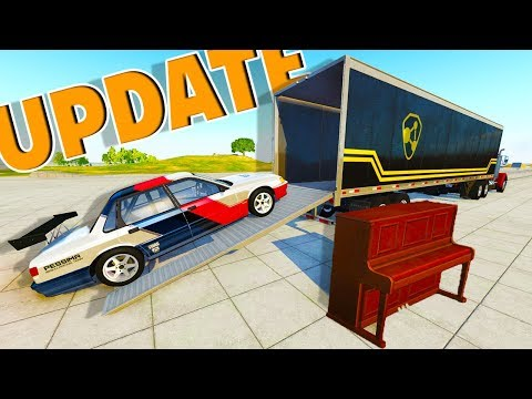 HUGE UPDATE! NEW CARRIERS, NEW SOUNDS, A PIANO?, AND MORE! - BeamNG Drive 0.10 UPDATE Gameplay