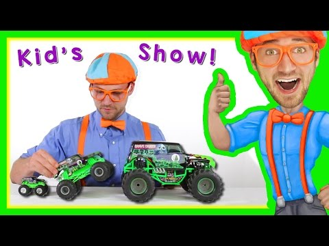 Thumbnail: Learn Colors with Monster Trucks for Children with Blippi