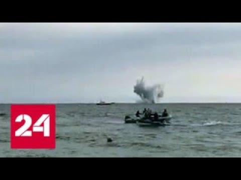 На авиашоу в Италии упал в море истребитель - Россия 24