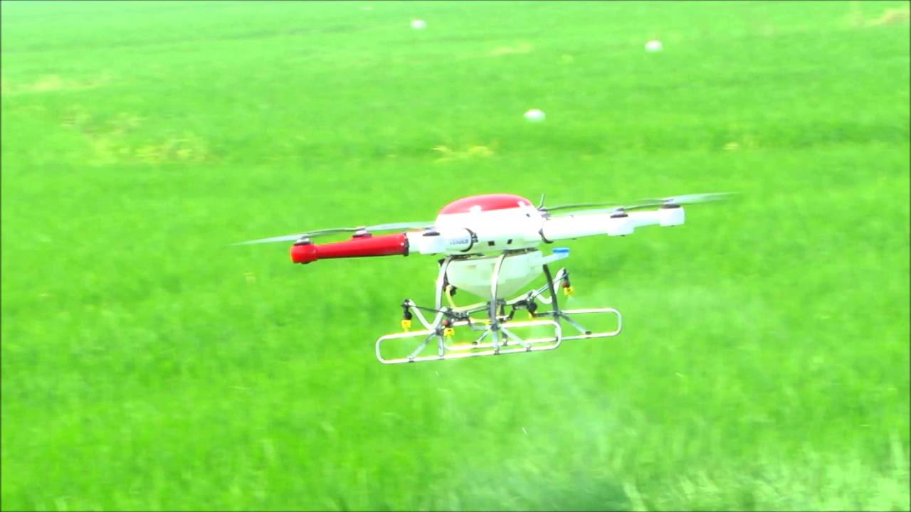 Battery Powered Multi-Rotor Drone Sprayer for Agriculture