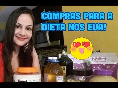 Comprinhas do mês: alimentos da minha dieta + preços - supermercado COSTO nos EUA!