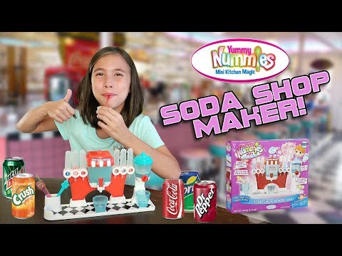 SODA SHOP MAKER!!! DIY Mini Sodas! Yummy Nummies Mini Kitchen Magic