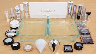 White vs Diamonds - Mixing Makeup Eyeshadow Into Slime ASMR 337 Satisfying Slime Video