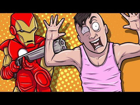 Gmod Deathrun Fun - Marvel Comics Edition! (Garry's Mod Funny Moments)