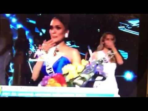 Steve Harvey Mistakenly Crowns Miss Columbia Miss Universe 2015, Miss Philippines Wins