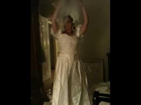 Lisa in her wedding dress