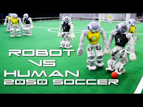 Robots Vs Humans 2050 Soccer Match - Behold The Future