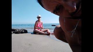 Внезапная встреча с местным блогером Олегом в Лазаревском, общаемся на море про жизнь. Видео Олега!