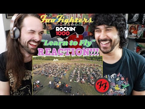 LEARN TO FLY - FOO FIGHTERS Rockin' 1000 Official Video - REACTION!!!