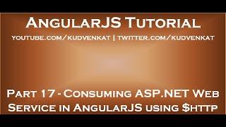 AngularJS alıcı ASP NET Web Hizmeti $http kullanarak