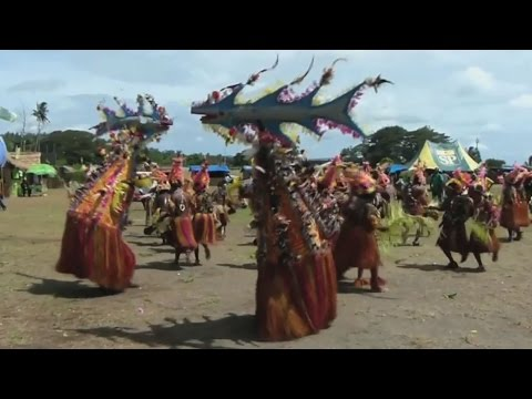 The Coastal Arapesh people dancing at the National Mask Festival