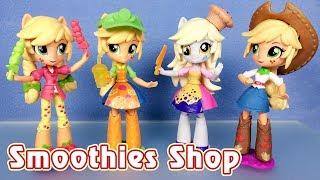 Обзор набора Smoothies Shop с куклой Эпплджек (Equestria Girls Minis)