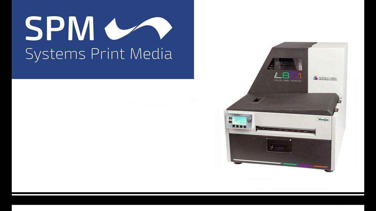 afinia label l801 color label printer youtube