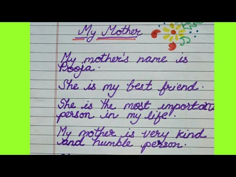My Mother essay in English for kindergarten kids by Smile