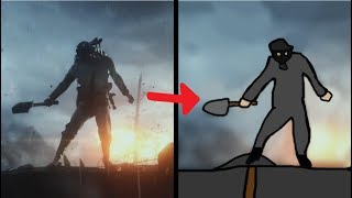 Battlefield 1 trailer but it's drawn in MS Paint