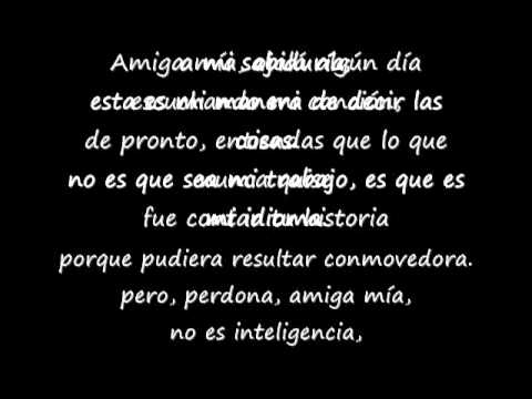 Amiga mia sanz lyrics