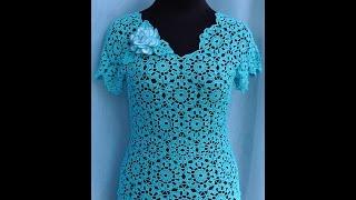 Вязание блузки из мотивов.Кофточка из мотивов крючком.Как вязать из мотивов. ЧАСТЬ 3 Сrochet blouse