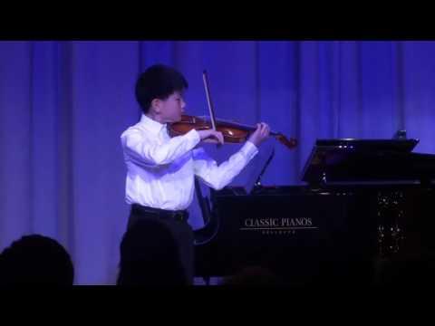 Bryce Wang performed Bach's Partita No. 3 in E Major, II. Loure
