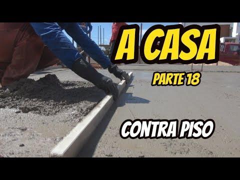 A CASA PARTE 18 CONCRETANDO O CONTRAPISO