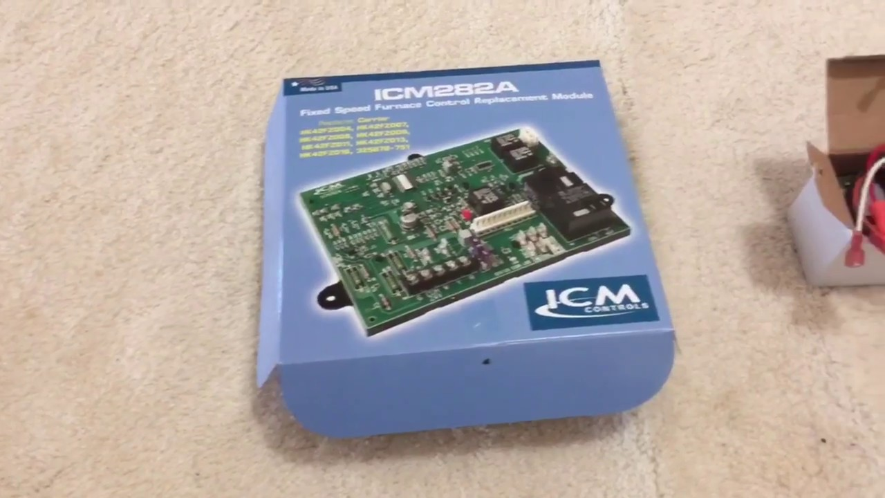 install icm282a furnace control board, replacement for carrier