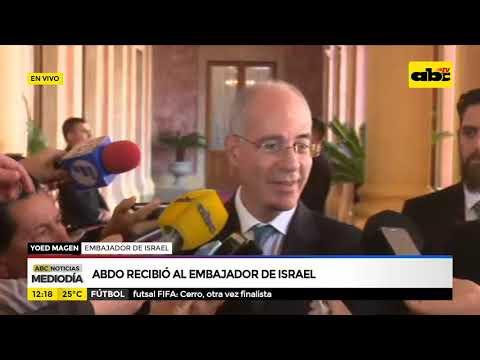 Abdo Recibió Al Embajador De Israel