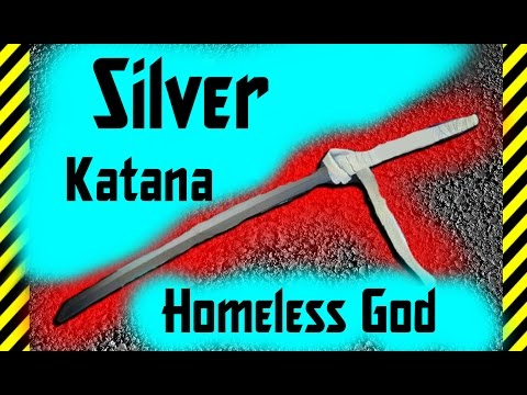 How to Make a Silver Katana  From the paper by hand  Weapons of Anime Homeless God Noragami!