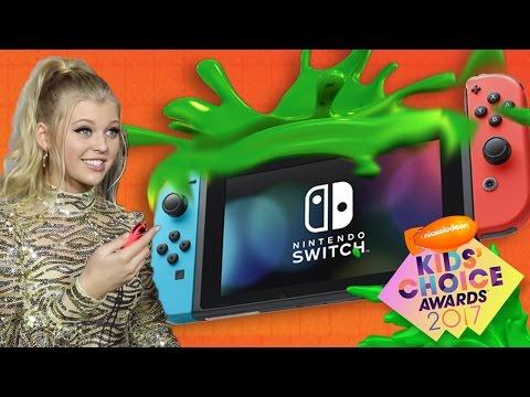 Celebs Play Nintendo Switch at Kids