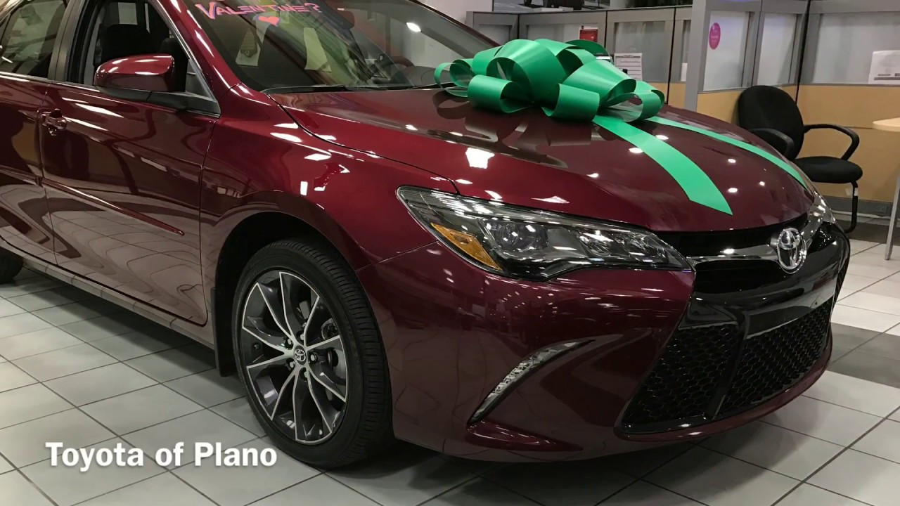 Toyota Of Plano >> HU578640 | 2017 TOYOTA Camry XSE V6 in Ruby Flare Pearl - YouTube