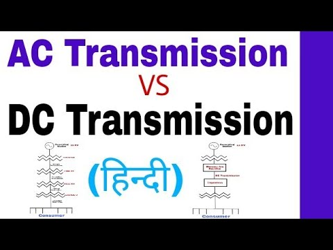Comparison of AC and DC Transmission Line with Advantages and Disadvantages in Hindi.