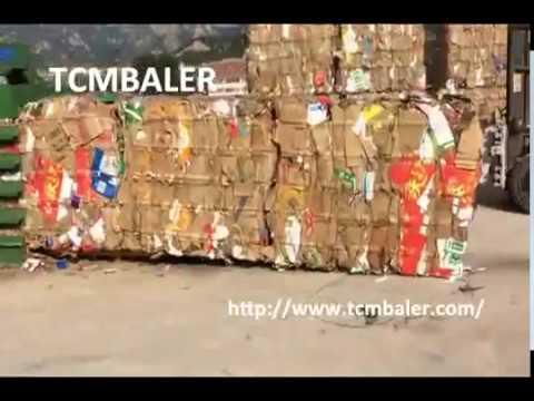 TCM BALER-automatic scrap cartons baler waste kraft paper compressor machine France Netherlands