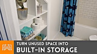 Turn Unused Space into Built In Storage // Woodworking