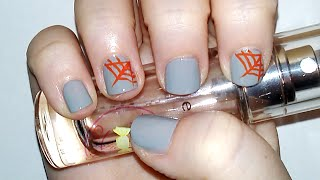 Halloween Spider Web Inspired Nail Design Tutorial | Samantha Beauty Thumbnail