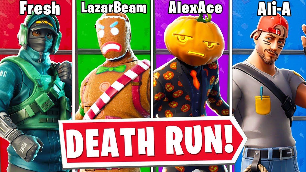 Death Run Fortnite Lachlan The Youtuber Death Run In Fortnite Creative Youtube