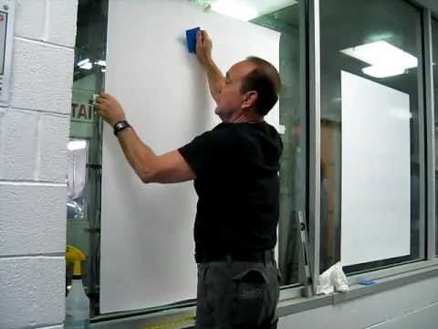 How To Install Large Static Cling Vinyl From The Inside