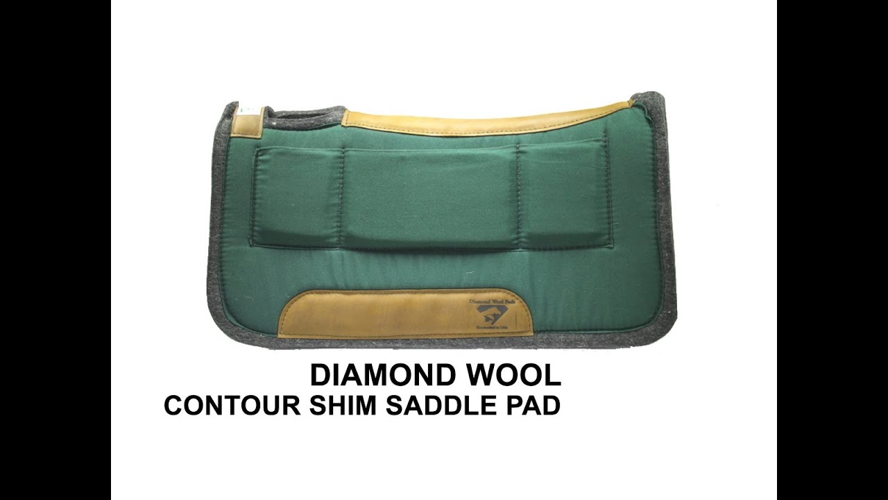 English saddle pad with pockets to put pads in Tan