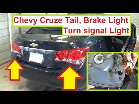 hqdefault chevrolet cruze tail light brake light turn signal light bulb 2014 chevy cruze fog light wiring diagram at fashall.co